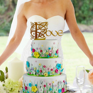 "Celtic Knot ""Love"" Wedding Cake Topper"