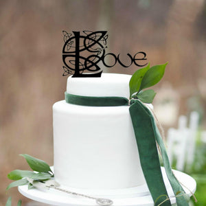 "Celtic Knot ""Love"" Wedding Cake Topper (FREE SHIPPING)"