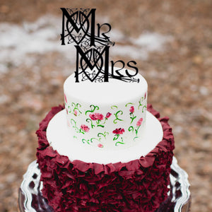 Celtic Knot Mr and Mrs Wedding Cake Topper