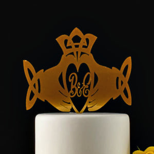 Celtic Claddagh Ring Wedding Cake Topper