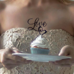 Mixed Set of Love Cupcake Toppers (FREE SHIPPING)