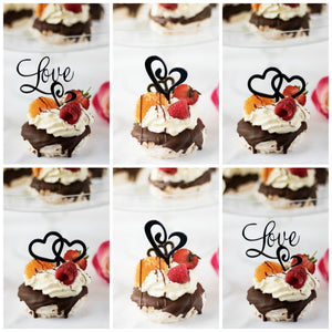 Mixed Set of Love Cupcake Toppers
