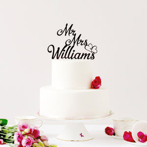 Surname Wedding Cake Topper Customed Designed (FREE SHIPPING)