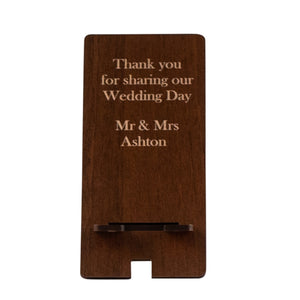 Wedding favour, Customised Phone Stand set of 10