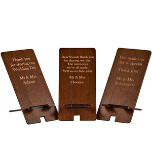 Wedding favour, Customised Phone Stand set of 10 (FREE SHIPPING)