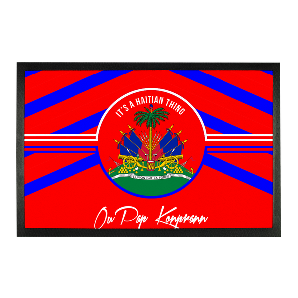 Haitian Thing - Red Sublimation Doormat