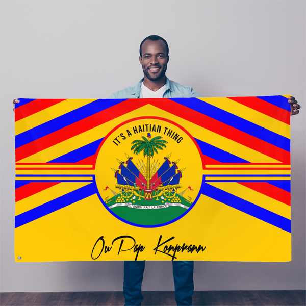 Haitian Thing - Gold Sublimation Flag
