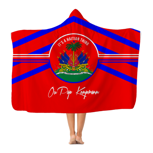 Haitian Thing - Red Classic Adult Hooded Blanket