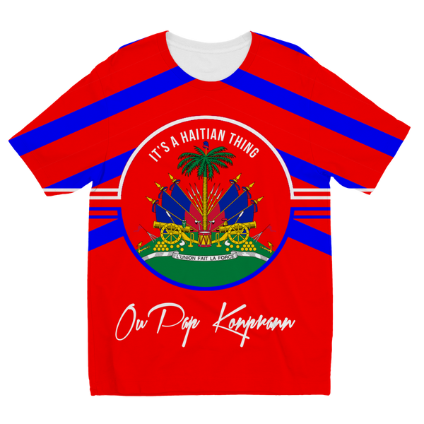 Haitian Thing - Red Sublimation Kids T-Shirt