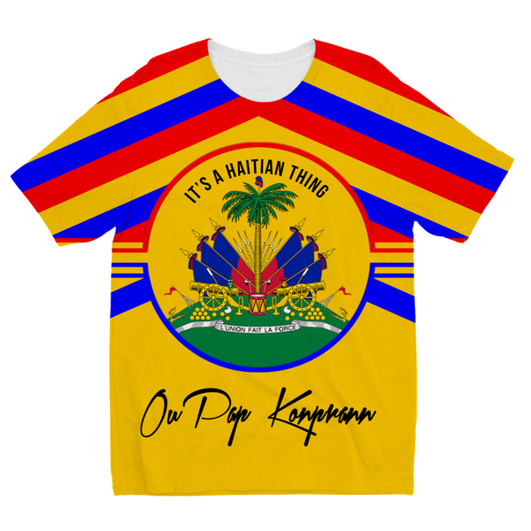 Haitian Thing - Gold Sublimation Kids T-Shirt