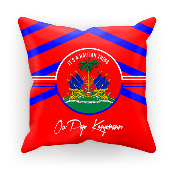 Haitian Thing - Red Sublimation Cushion Cover