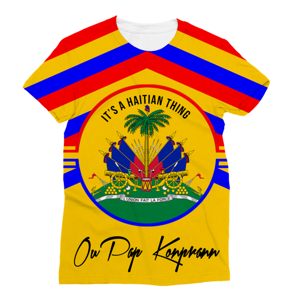 Haitian Thing - Gold Classic Sublimation Women's T-Shirt