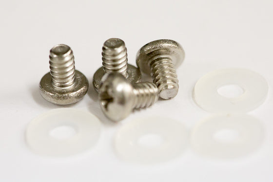 "Screw Kit: Stainless #4-40 3/16"" with plastic washers"