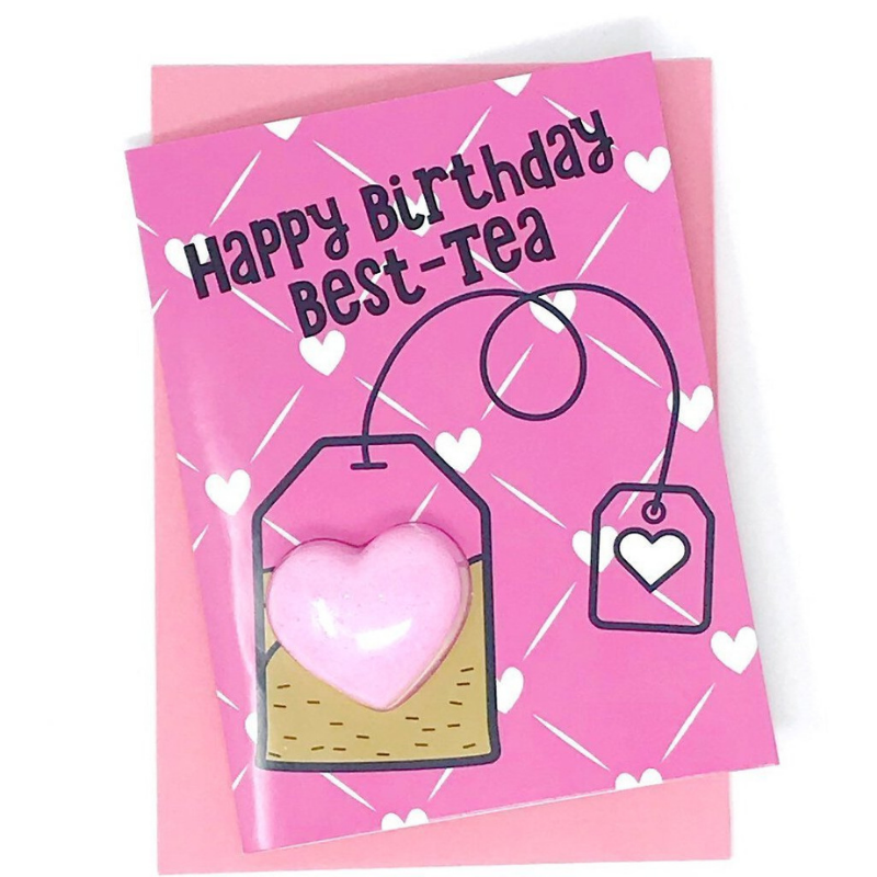 Happy Birthday Best-tea Bath Fizzy Card