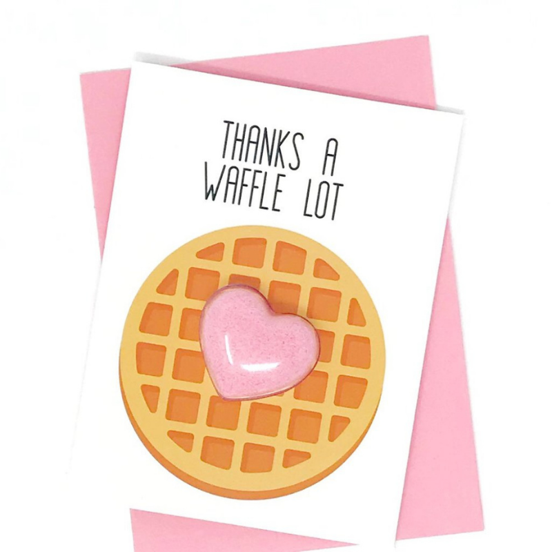 Thanks a Waffle Lot Bath Fizzy Card
