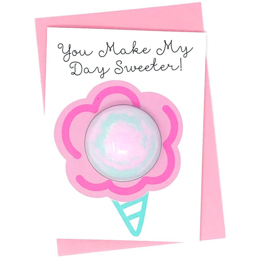 You Make My Day Sweeter Bath Fizzy Card