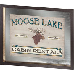 Custom Lodge Sign IV Moose Lake