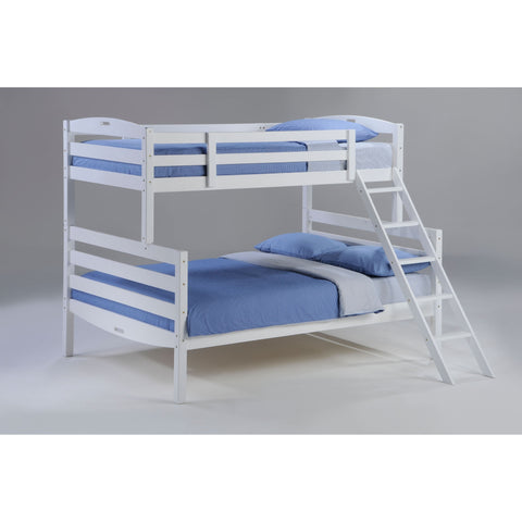Bunk Bed Twin over Double - White