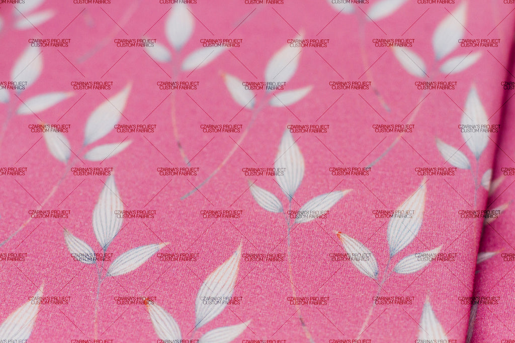 Retail: Dainty Floral Tossed Leaves in Pink