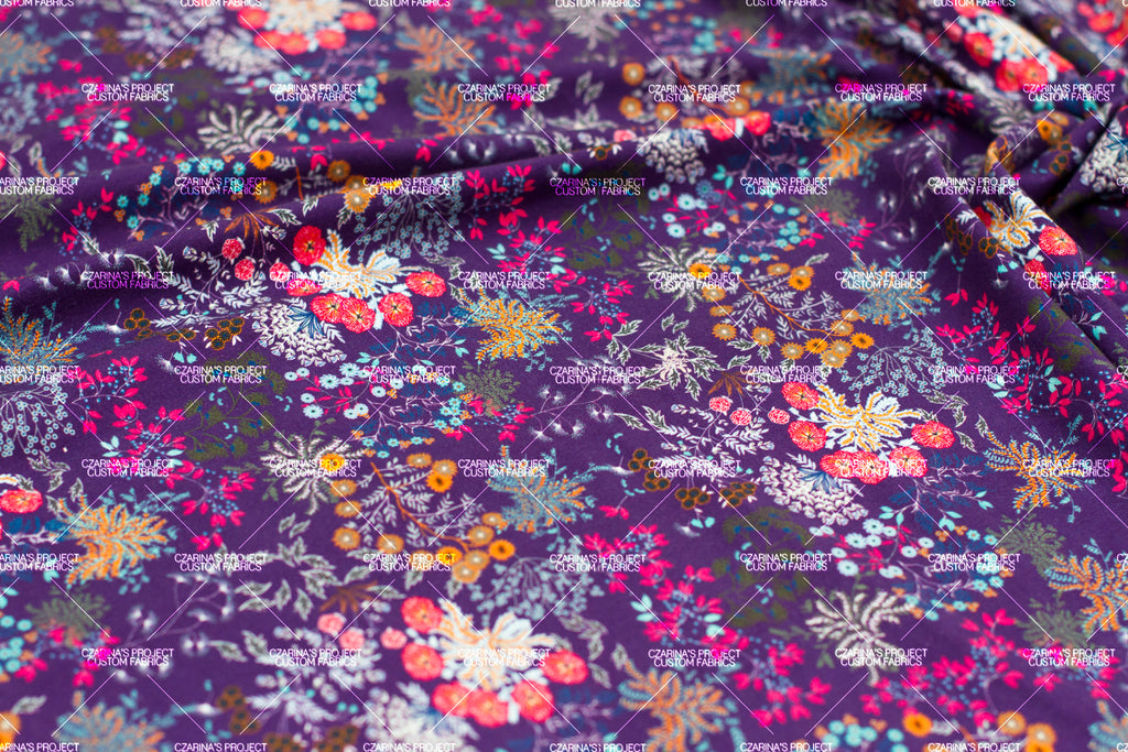 Retail - Whimsical Florals in Eggplant