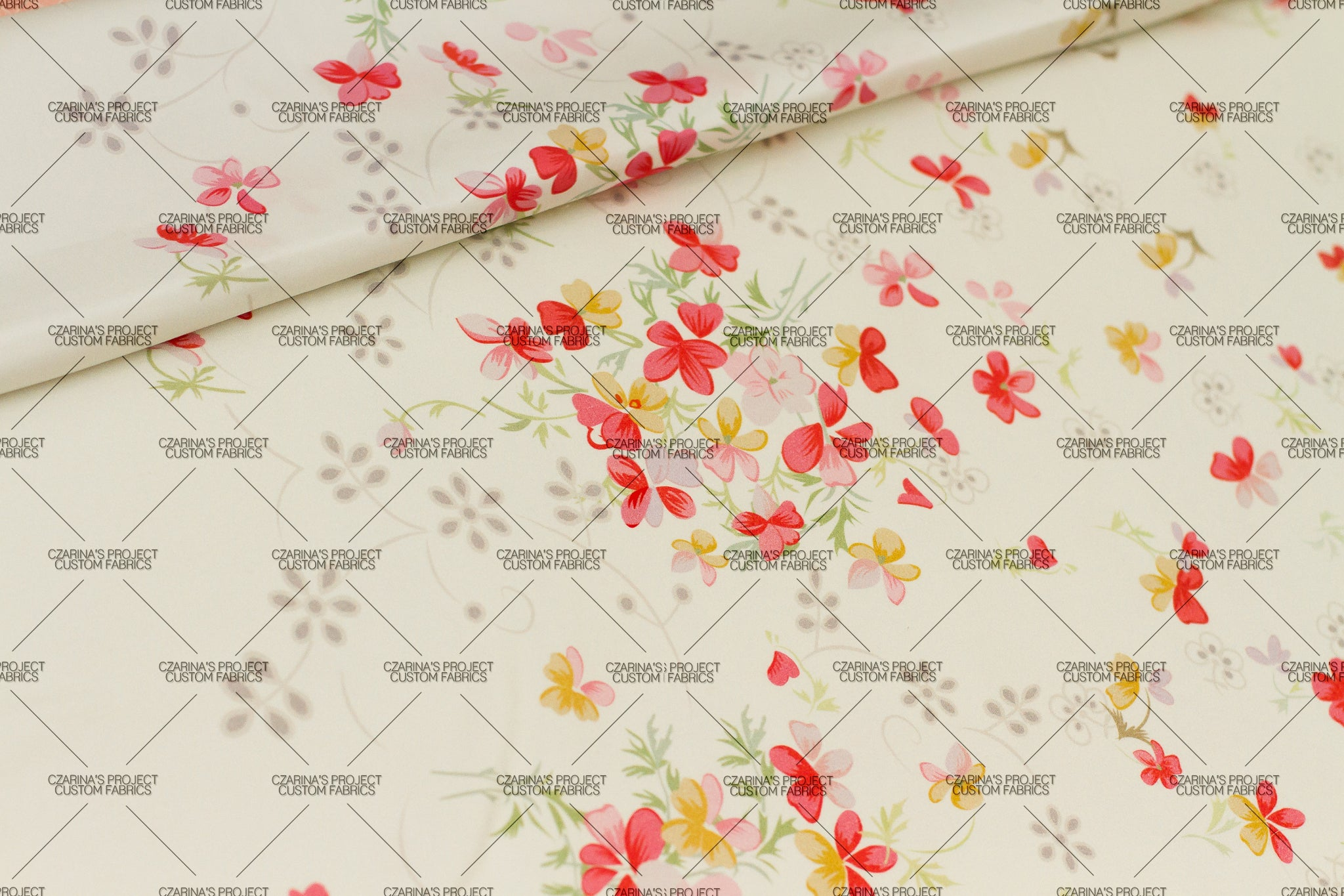 Preorder - Vintage Florals in Ivory (small scale)