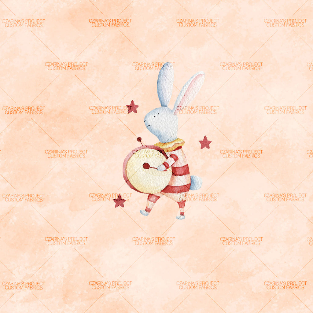 Preorder: Circus Bunny Panel in Orange