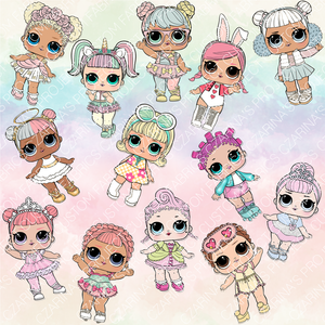 1/15/19 - Flash Preorder - LOL Dolls Pastel Rainbow Main and Coord