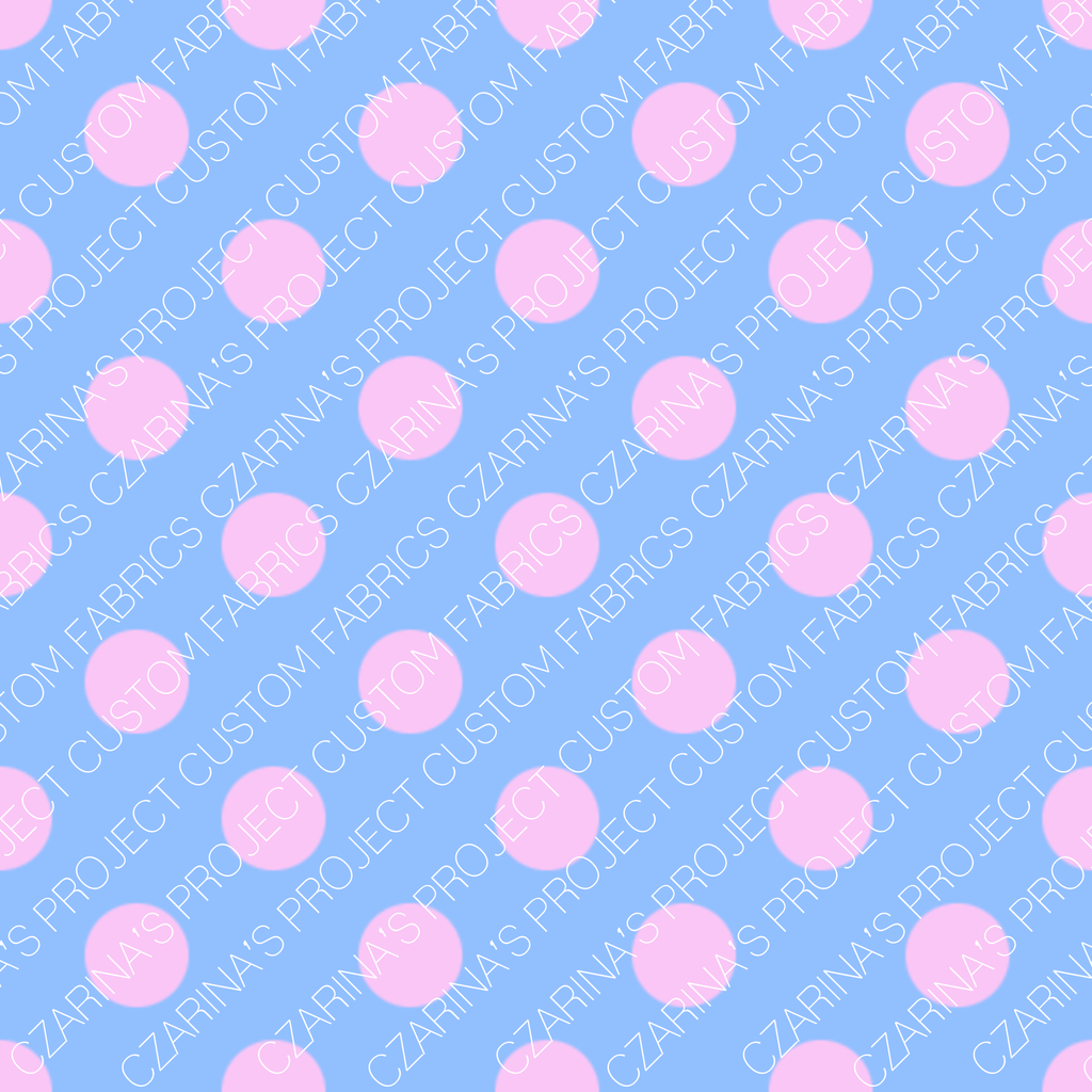 Pastel Lil Outrageous Littles Coordinating Fabric (light blue with pink)