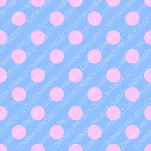 Retail - LOL Doll Pink Dots on Blue Coordinating Fabric