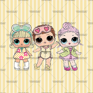 Retail - LOL Doll Yellow Stripes Panel