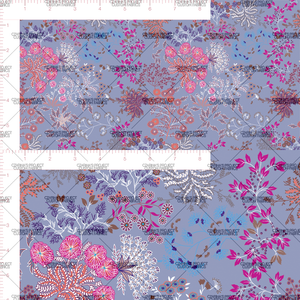 Preorder - Whimsical Florals in Deep Periwinkle (big scale)