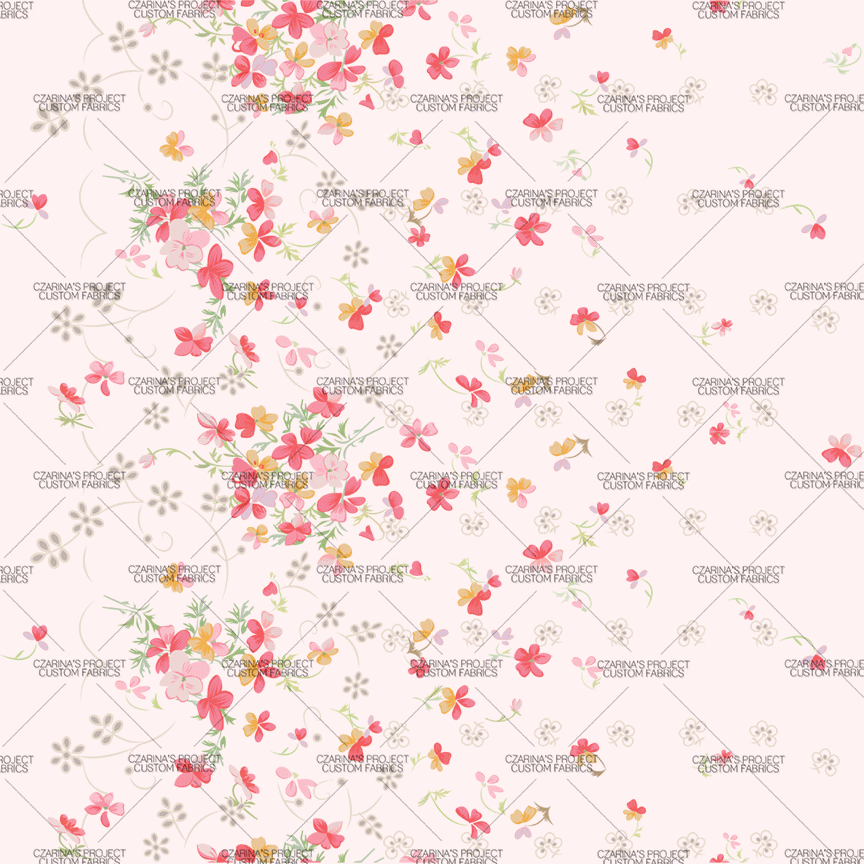 Retail - Vintage Florals in Blush (small scale)