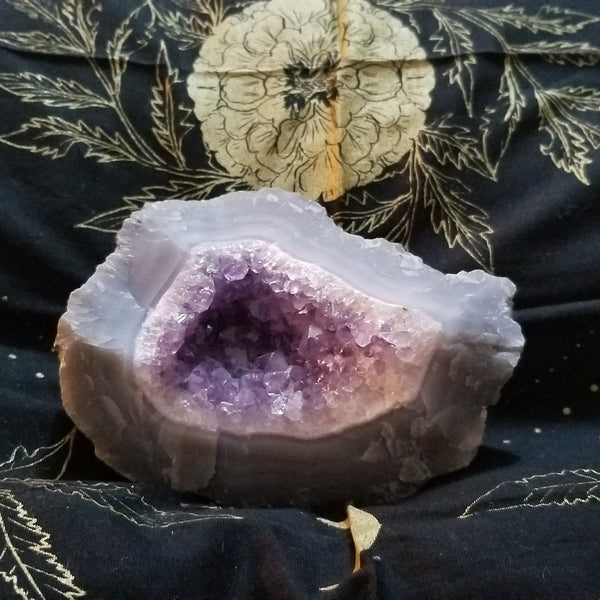 Amethyst Partial Geode in Agate
