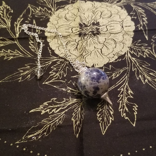 Sodalite Ball and Point Pendulum
