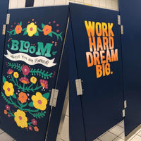 Teachers Inspire Middle School Girls through Bathroom Signs