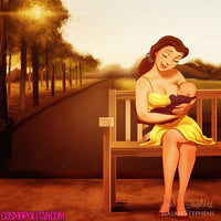 Artist Illustrates Disney Princesses Enjoying Motherhood