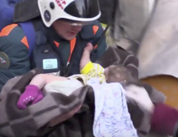 Infant Found Alive After Blast in Russia