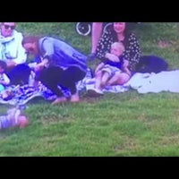 Mom Saves Baby from Rolling Down Hill