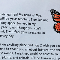 A Kindergarten Welcome Letter for the Kids We've Lost
