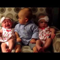 Toddler's Reaction to Twins is Priceless {Video}