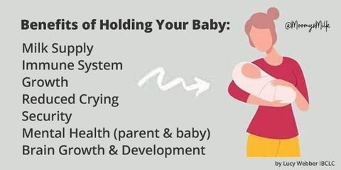 The many benefits of holding your baby
