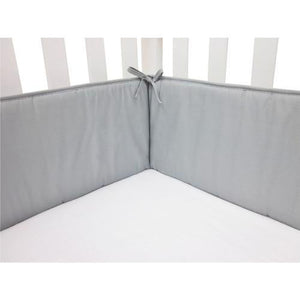100% Cotton Percale Crib Bumper - Solid Gray