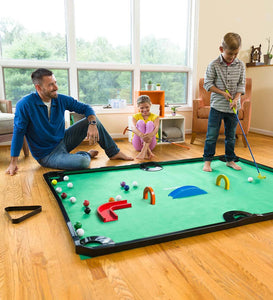 Golf Pool Indoor Family Game Special, Includes Wooden Arches and Ramps