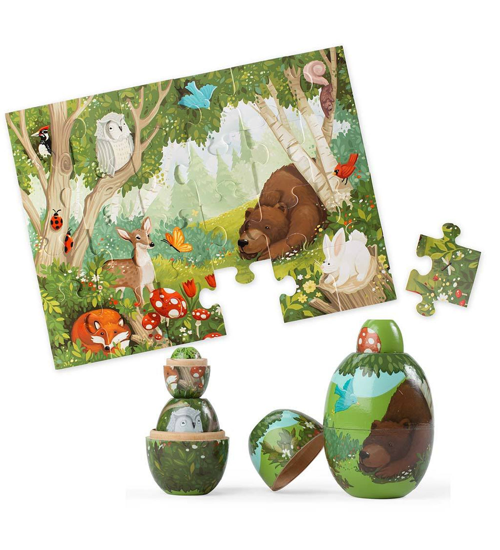 Woodland Friends Nesting Set and Floor Puzzle Special