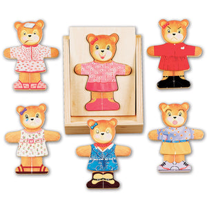 Wooden Bear Dress-Up