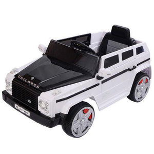 12V MP3 Kids Ride On Car Battery RC Remote Control w/ LED Lights White