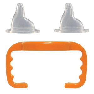 Baby Bottle to Sippy Cup Conversion/Replacement Kit - Orange