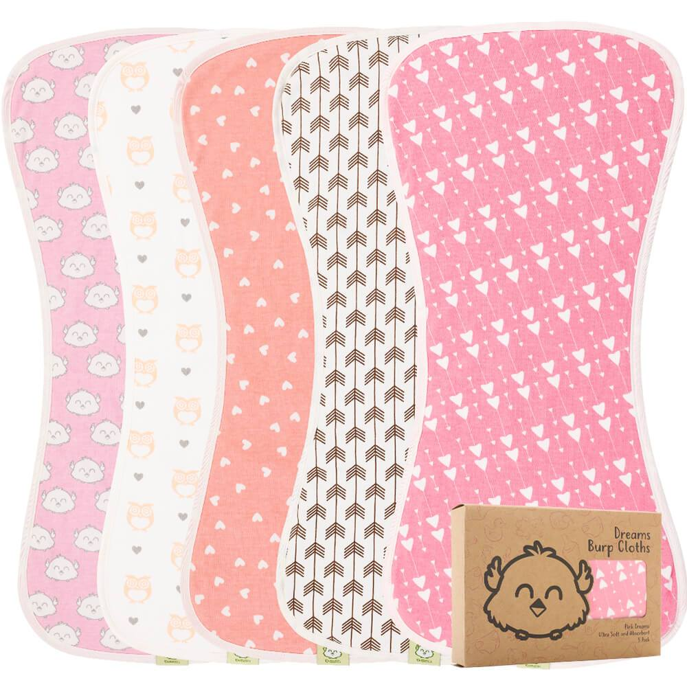 Baby Burp Cloths - 5 Pack