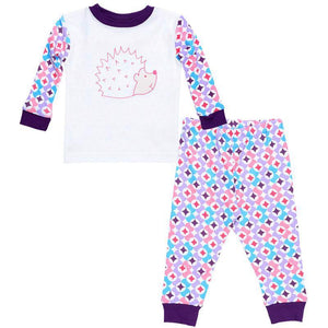 Baby Long Johns - Prism Print Plum