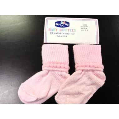 Balloons Bootie Socks, 12-18m - Pink